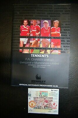 Ticket 1990 Charity Shield   Liverpool V Manchester United