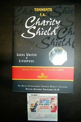 Ticket 1992 Charity Shield   Leeds United V Liverpool