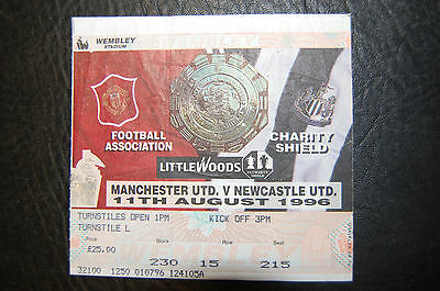 Ticket 1996 Charity Shield   Manchester United V Newcastle United