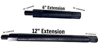"""6"""" & 12"""" Dry Core Drill Bit Extension 5/8"""" - 11 female to 5/8"""" - male"""