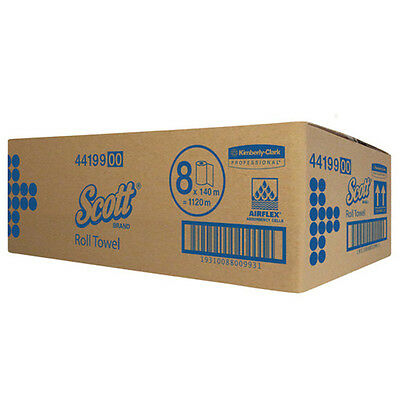 Kimberly Clark Scott Roll Towel 140 Metres x 8 Rolls (44199)