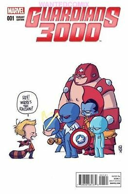Guardians 3000 #1 Skottie Young Baby Variant Cover Marvel Comic Book 2014 Nm 1