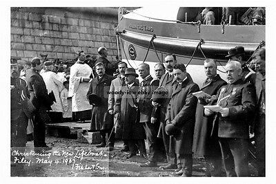 pt2206 - Christening of Filey Lifeboat 1907 , Yorkshire - photograph 6x4