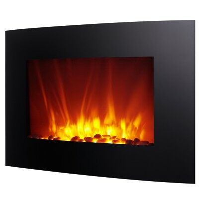 Homegear 1500W Wall Mounted 2-in-1 Electric Fireplace/Heater with Remote Control