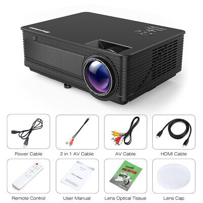 Multimedia HD 1080P 5000 Lumens Home Theater Projector USB HDMI ATV Potable US