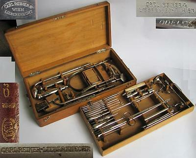 Wwi Wwii German Medical Boxed Surgical Trepanation Large Set Marked Rare