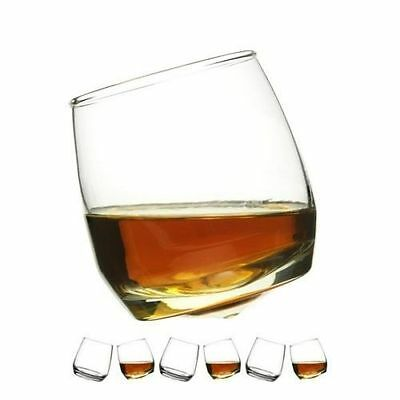 Sagaform Rocking Whiskey Glasses Set of 6 in a gift box- Round Base Whisky Glass