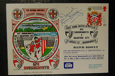 David Armstrong Bournemouth 1987  Signed Football First Day Cover