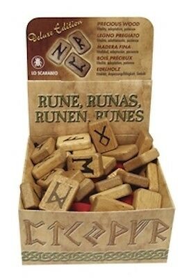 Boxed Wood Rune Set with Bag and Instructions!