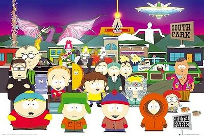 SOUTH PARK ~ LADDER TO HEAVEN 24x36 CARTOON POSTER Parker Stone Kenny Stan Kyle