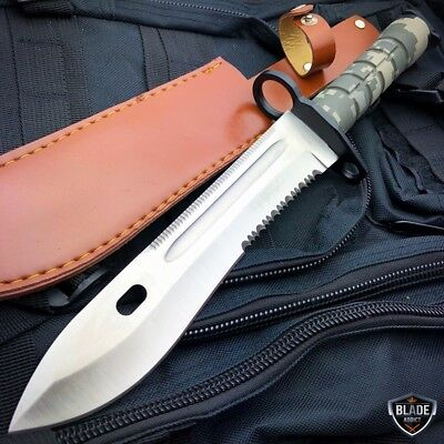 Military ARMY Tactical Combat Fixed Blade Survival Hunting Bayonet Knife NEW