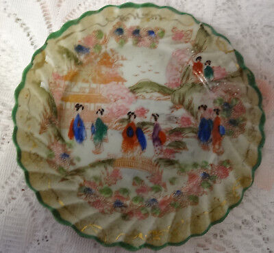 Antique Chinese Export Famile Rose 3 Hand Painted Fine Porcelain Plates
