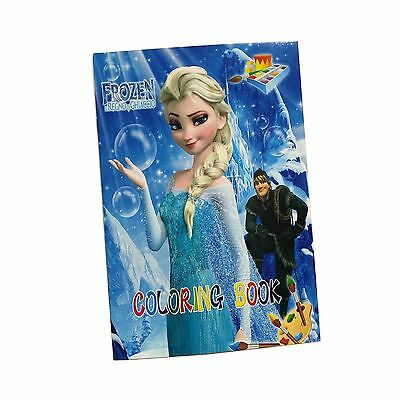 Frozen Coloring Book Party Fun For Kids Gift 13.5x20cm 16 Pages With Sticker New