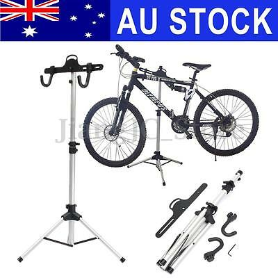 Aluminum Alloy Bike Bicycle Adjustable Mechanic Repair Tool Work Stand Tray AU