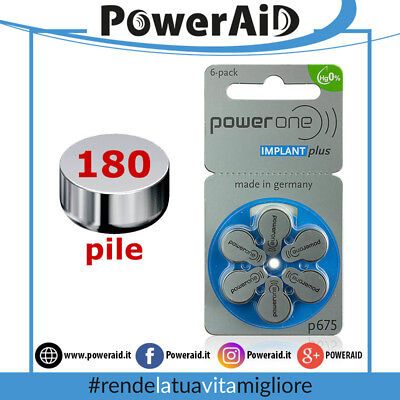 180 Pile Power One P675 IMPLANT plus - Mercury Free - Batterie Cocleari Cochlear