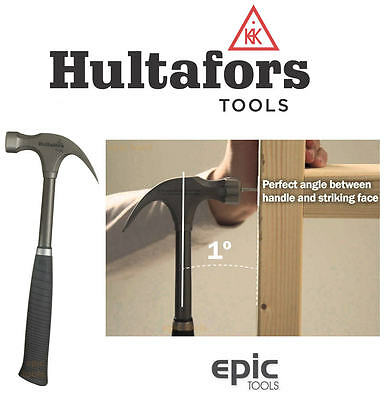 HULTAFORS TS-20 Carpenters 20oz Claw Framing Steel Ergo Soft XL Grip Hammer