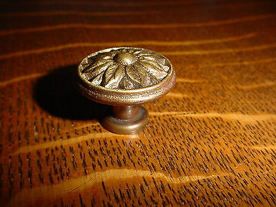 "Vintage Brass Flower Drawer/Door Knob/Pull, 1 1/4""dia., other sizes avail"