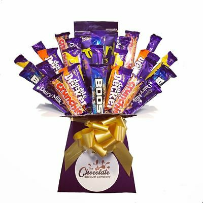 Cadbury Selection Chocolate Bouquet - Sweet Hamper Tree Explosion - Perfect Gift