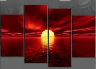 4-Piece-MODERN-ABSTRACT-WALL-DECOR-ART-CANVAS-OIL-PAINTING-no-framed  4-Piece-M