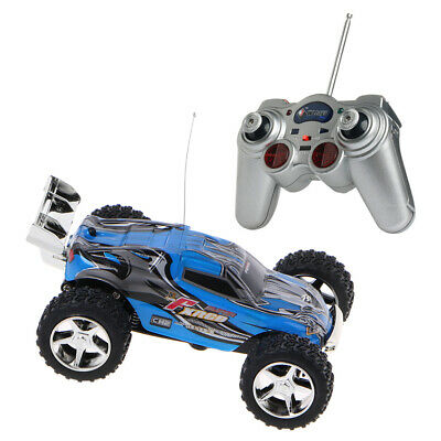 Remote Control High Speed Blue Mini Racing 1:32 Radio RC RTR Truck Car Buggy Toy