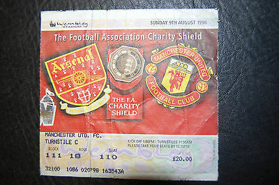Ticket 1998 Charity Shield   Arsenal V Manchester United