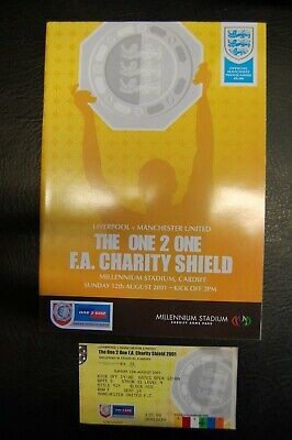 Ticket 2001 Charity Shield   Liverpool V Manchester United