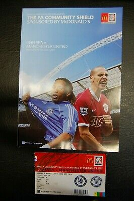 Ticket 2007 Charity Shield   Chelsea  V  Manchester United