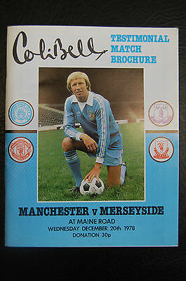 Colin Bell Manchester City Testimonial Broscure 1978