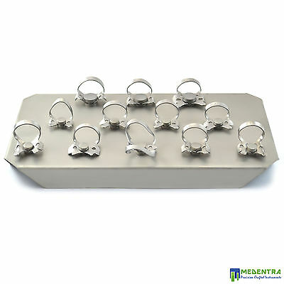 Medentra Rubber Dam Instruments Restorative Endodontic Clamps Set Of 12 New