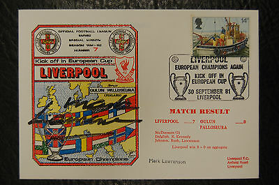 Mark Lawrenson Liverpool 1981 European Cup Winners Signed Cover
