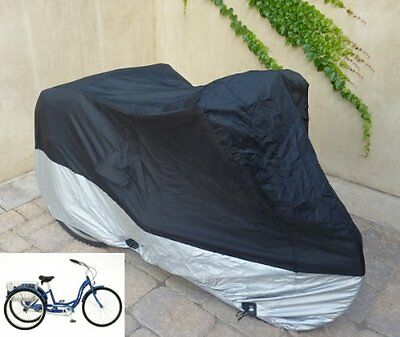 """Adult Tricycle cover for Schwinn, Westport in Black ss300 75""""L x 30""""W x 44""""H"""