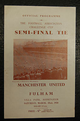 1958 Fa Cup Semi-Final  Manchester United V Fulham