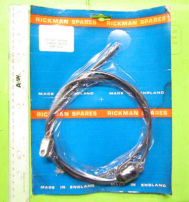 Rickman NOS Zundapp 125 MX Front Brake Cable with Switch p/n R011 05 043