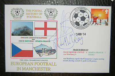 Ruud Van Nistelrooy  Manchester United 2004 Champions League  Cover Signed