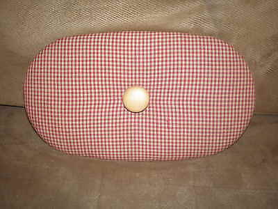 Heart of Dresden Burgundy Gingham Fabric Lid fits Longaberger Small Boardwalk
