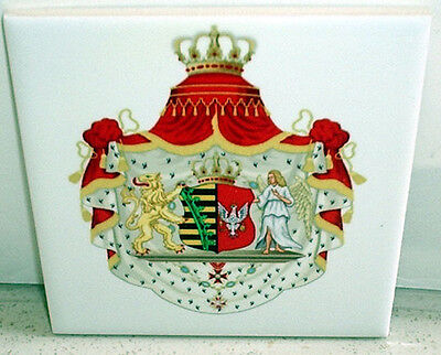 Grand Coat of Arms of Duchy of Warsaw (Poland) CERAMIC TILE