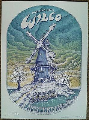 Beautiful Original Mint '05 Wilco Amsterdam Silkscreen Concert Poster Emek Jc26