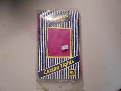 VINTAGE Girls SIze 6-12 OSHKOSH B'GOSH Dark Pink COtton Tights