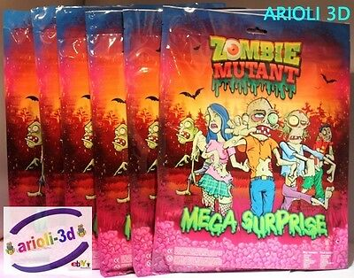 Lot 6 Zombie Mutant Mega Surprise Bag Ideal Gift For For Guests In Child Party