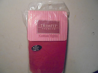 VINTAGE Girls SIze 10-12 Trim Fits Legwear (RED) Cotton Tights