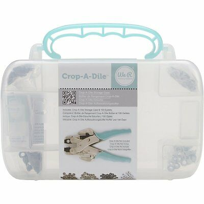 We R Memory Keepers Crop-A-Dile Case With Teal Eyelets [70909] BRAND NEW (AOI)