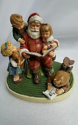Danbury Mint M.I. Hummel Storytime with Santa Officially Licensed Exclusive 1st