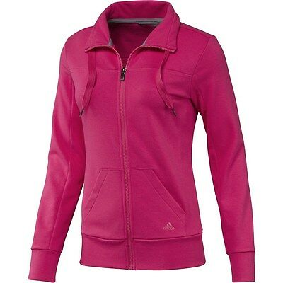 Ladies Women's New Adidas Tracksuit Top Sweater Jacket Jumper Pullover - Pink