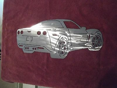 Plasma cut 2007 Corvette metal man cave sign garage art  Chevrolet