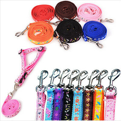 New  Beauty Small Dogs Pets Puppy Cat Adjustable Nylon Harness with Lead leash