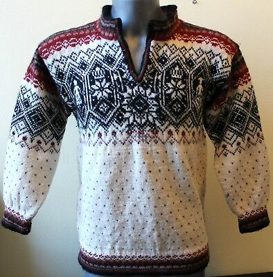 KIDS Norway 100% WOOL Nordic Sweater Pullover Telemark. Dale Of.  See Measures!!