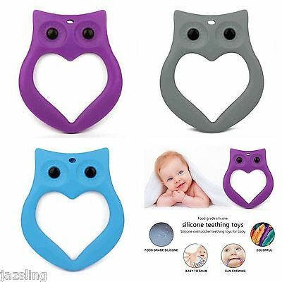 Silicone Teething toy Owl Baby teether