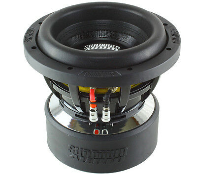 "SUNDOWN AUDIO X-8v.2 D4 8"" DUAL 4-OHM 750W RMS SUBWOOFER"