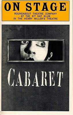 Cabaret Original Prduction Playbill - Alan Cumming, Natasha Richardson