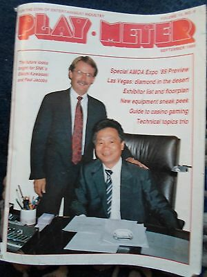 coin-op Amusements september 1989 Play Meter MAGAZINE special AMOA preview
